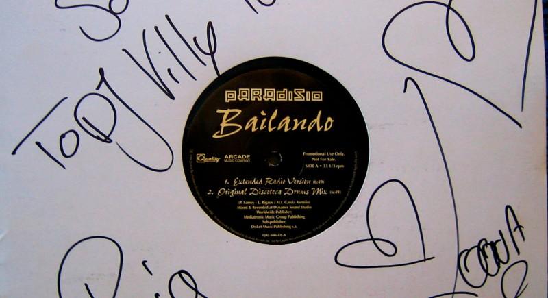 Paradisio Ft loona  - Bailando 12 inch Vinyl Schallplatte